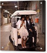 President And Michelle Obama Ride Acrylic Print by Everett