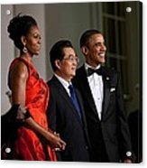 President And Michelle Obama Welcome Acrylic Print