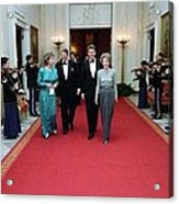 President And Nancy Reagan Walking Acrylic Print