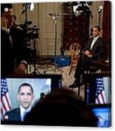 President Barack Obama Conducting Acrylic Print