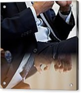 President Barack Obama Gestures Acrylic Print by Everett