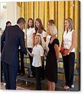 President Barack Obama Greets The 2009 Acrylic Print