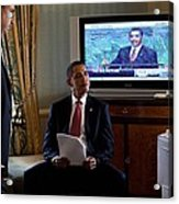 President Barack Obama In Front Acrylic Print by Everett