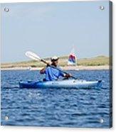 President Barack Obama Kayaks While Acrylic Print