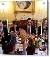 President Barack Obama Marks Acrylic Print