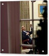 President Barack Obama Plays Acrylic Print by Everett