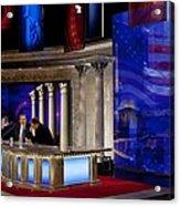 President Barack Obama Tapes An Acrylic Print by Everett