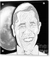 President  Barrack Obama Acrylic Print by Belinda Threeths