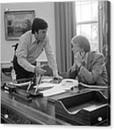 President Carter And His Chief Of Staff Acrylic Print by Everett