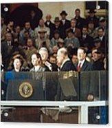 President-elect George W. Bush Is Sworn Acrylic Print by Everett