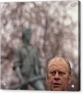 President Ford Speaks On The 200th Acrylic Print by Everett