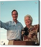 President George Bush And Barbara Bush Acrylic Print