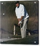 President George Bush Plays Golf Acrylic Print by Everett