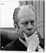 President Gerald Ford Listening Acrylic Print by Everett