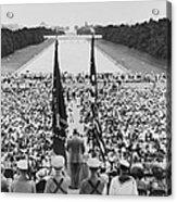 President Harry S. Truman Between Flags Acrylic Print by Everett