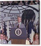 President Jimmy Carter Addresses Acrylic Print by Everett