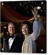 President Jimmy Carter And First Lady Acrylic Print