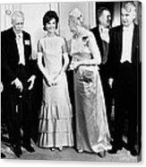 President John Kennedy Visiting Canada Acrylic Print by Everett