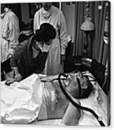President Johnson After Surgery. Lady Acrylic Print