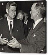 President Kennedy Talking With Arkansas Acrylic Print
