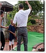 President Michelle Obama React Acrylic Print by Everett