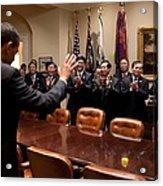 President Obama Bids Farewell Acrylic Print