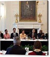 President Obama Meets Acrylic Print by Everett