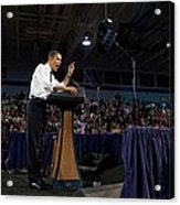 President Obama Promotes Health Care Acrylic Print by Everett