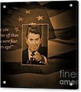 President Reagan Acrylic Print