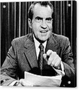 President Richard Nixon Presents A New Acrylic Print by Everett