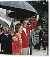 President Ronald Reagan And First Lady Acrylic Print by Everett