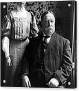 President William Howard Taft With Daughter Acrylic Print by International  Images