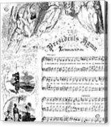 Presidents Hymn, 1863 Acrylic Print