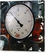 Pressure Dial, Natural Gas Industry Acrylic Print