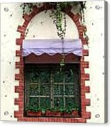 Pretty Decorated Window Acrylic Print