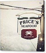 Price's Seafood Acrylic Print