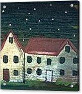 Prim Houses All In A Row Acrylic Print