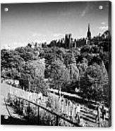 Princes Street Gardens Edinburgh Scotland Uk United Kingdom Acrylic Print by Joe Fox