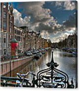 Prinsengracht And Leidsestraat. Amsterdam Acrylic Print