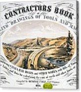Print Shows Construction Of A Railroad Acrylic Print