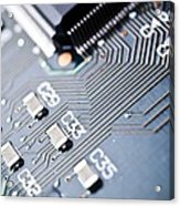 Printed Circuit Board Components Acrylic Print