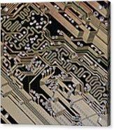 Printed Circuit Board, Computer Artwork Acrylic Print