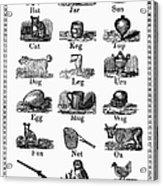 Printers Cuts, 1825 Acrylic Print