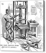 Printing Press, 1639 Acrylic Print
