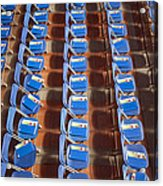Programs On Rows Of Seating Acrylic Print by Marlene Ford