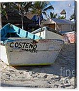 Progreso Mexico Fishing Boat Acrylic Print