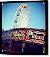Prom Fairground Rides Acrylic Print by Chris Jones