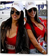 Promotional Assistants At Parque Xtremo Acrylic Print