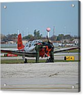 Propeller Plane Chicago Airplanes 09 Acrylic Print