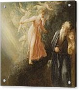 Prospero - Miranda And Ariel  Acrylic Print by Thomas Stothard
